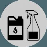 chemical bottle labels