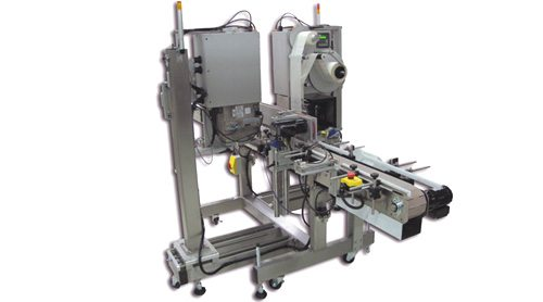 Print and apply front back labeler