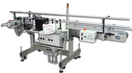 Print and apply single side labeler