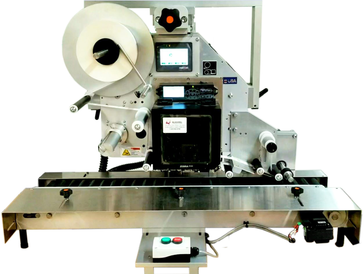 Table Top Pharmaceutical Labeling System for Syringes
